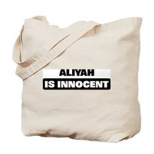 ALIYAH is innocent Tote Bag