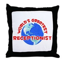 World's Greatest Recep.. (F) Throw Pillow