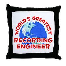 World's Greatest Recor.. (F) Throw Pillow