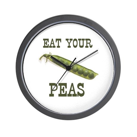 Eat Your Peas Wall Clock