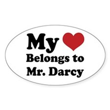 Mr. Darcy Lover Oval Decal
