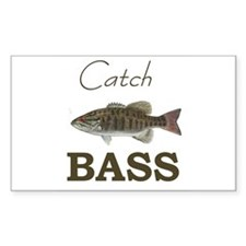 Catch Bass Rectangle Decal