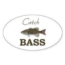 Catch Bass Oval Decal