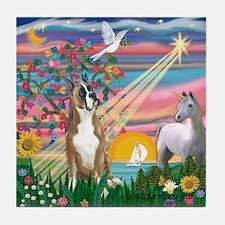 Magical Night / Boxer Tile Coaster