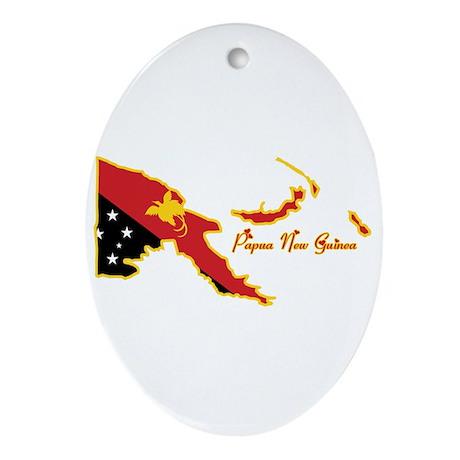 Cool Papua New Guinea Oval Ornament
