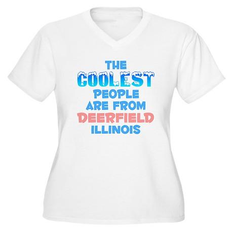 Coolest: Deerfield, IL Women's Plus Size V-Neck T-