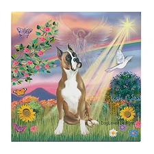 Cloud Angel/Boxer (#1) Tile Coaster