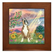 Cloud Angel/Boxer (#1) Framed Tile