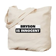BRYSON is innocent Tote Bag