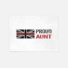 British Flag Red Line: Proud Aunt ( 5'x7'Area Rug