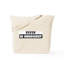 ELYSE is innocent Tote Bag