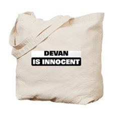 DEVAN is innocent Tote Bag