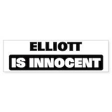 ELLIOTT is innocent Bumper Bumper Sticker