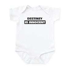 DESTINEY is innocent Infant Bodysuit