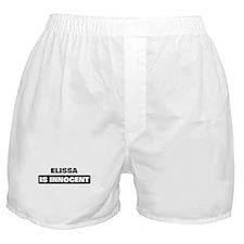 ELISSA is innocent Boxer Shorts
