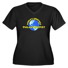 World's Greatest Phila.. (D) Women's Plus Size V-N