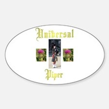 Universal Piper. Oval Decal