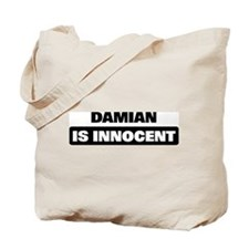 DAMIAN is innocent Tote Bag