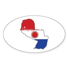 Cool Paraguay Oval Decal
