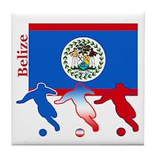 Belize Soccer Tile Coaster