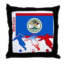 Belize Soccer Throw Pillow