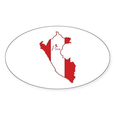 Cool Peru Oval Sticker