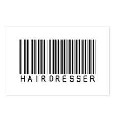 Hairdresser Barcode Postcards (Package of 8)