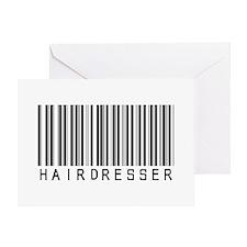 Hairdresser Barcode Greeting Card