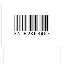 Hairdresser Barcode Yard Sign