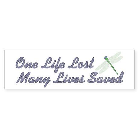 Many Lives Saved Bumper Sticker