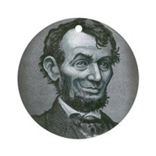 Cute Abe lincoln Ornament (Round)