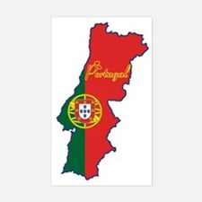 Cool Portugal Rectangle Decal