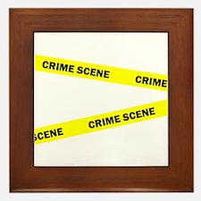Crime Scene Framed Tile