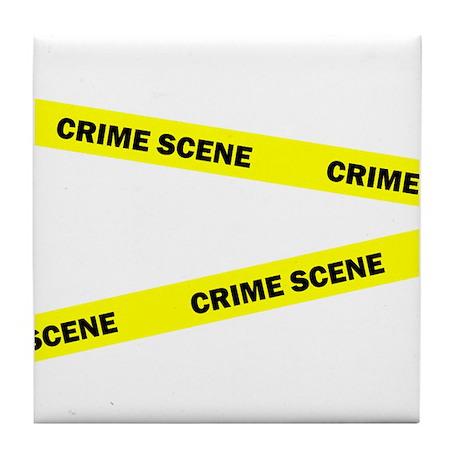 Crime Scene Tile Coaster