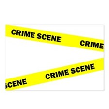 Crime Scene Postcards (Package of 8)