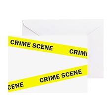 Crime Scene Greeting Card