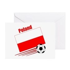Poland Soccer Team Greeting Cards (Pk of 10)
