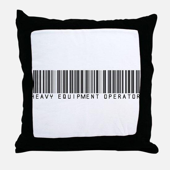 Heavy Equip Optr Barcode Throw Pillow
