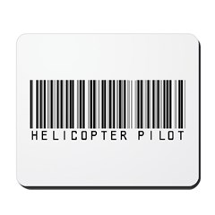 Helicopter Pilot Barcode Mousepad
