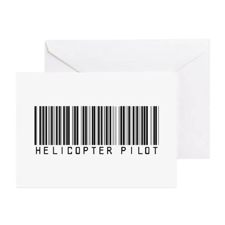 Helicopter Pilot Barcode Greeting Cards (Pk of 20)