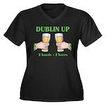 Dublin Up Women's Plus Size V-Neck Dark T-Shirt