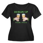 Dublin Up Women's Plus Size Scoop Neck Dark T-Shir