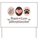 Peace Love Affenpinscher Yard Sign