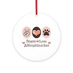 Peace Love Affenpinscher Ornament (Round)