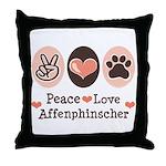 Peace Love Affenpinscher Throw Pillow