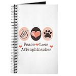 Peace Love Affenpinscher Journal