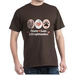 Peace Love Affenpinscher Dark T-Shirt