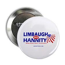"Limbaugh/Hannity 2012 2.25"" Button"