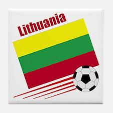 Lithuania Soccer Team Tile Coaster