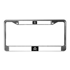Pirate License Plate Frame - Calico Jack Flag